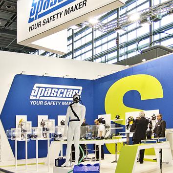 Visione globale dello stand Spasciani alla fiera di Dusseldorf