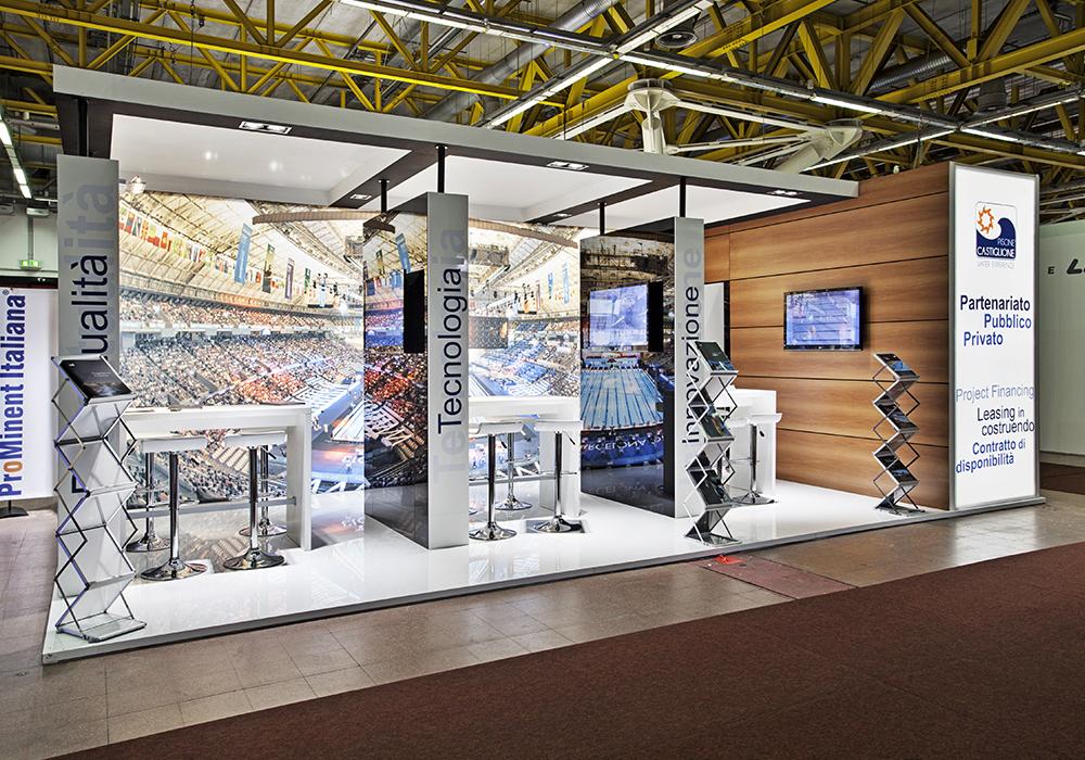 Ingresso allo spazio espositivo delle piscine Castiglione alla fiera ForumPiscine di Bologna