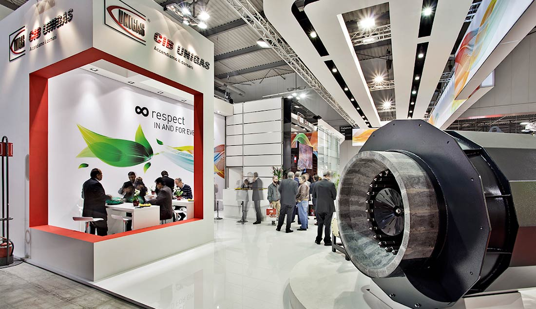 Saletta privata nello stand Cib Unigas allestito per la mostra convegno Expocomfort 2014 alla fiera di Milano