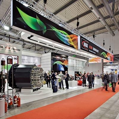 Stand Cib Unigas allestito per la mostra convegno Expocomfort 2014 alla fiera di Milano