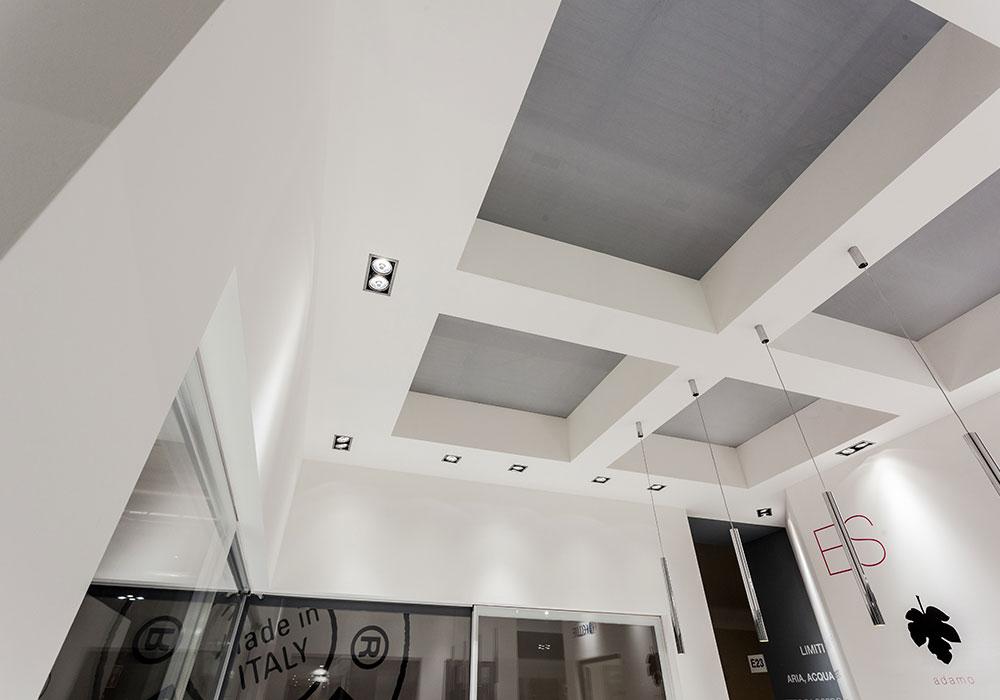Soffitto dello stand Essenza al salone fieristico MADEexpo 2013 di Milano