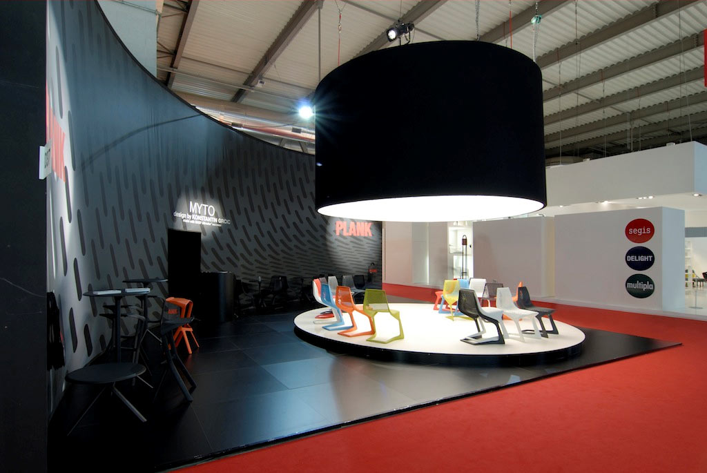 Act events stand plank al salone del mobile 2008 di milano for Salone del mobile stand