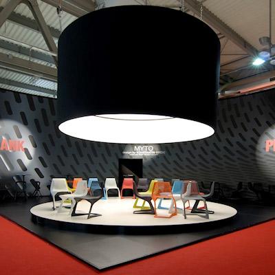 Stand Plank allestito per il salone del mobile 2008 di Milano