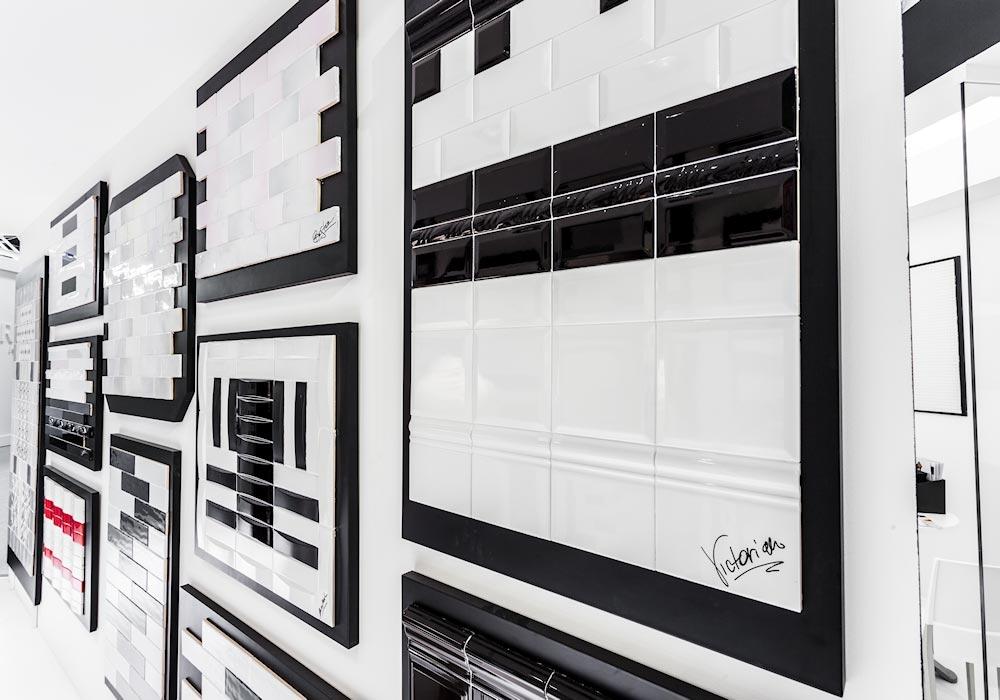 Ceramiche in esposizione nello stand Self al salone Cersaie 2014 di BolognaFiere