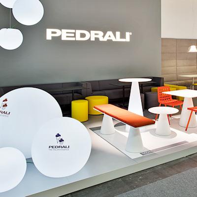 Stand Pedrali allestito per il Salone Internazionale Gelateria Pasticceria e Panificazione Artigianali SIGEP 2014 alla fiera di Rimini
