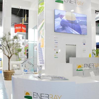 Stand Enerray allestito per la mostra convegno internazionale Solarexpo 2012 alla fiera di Verona