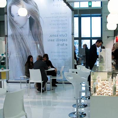 Stand AMI allestito per l'evento internazionale nel settore della bellezza professionale Cosmoprof 2011 alla fiera di Bologna