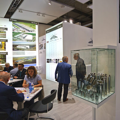 Stand Profilmec allestito in occasione dell'evento Made In Steel 2015 di Fiera Milano