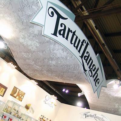 Stand Tartuflanghe allestito in occasione dell'esposizione internazionale Tuttofood 2013 al quartiere fieristico di Milano